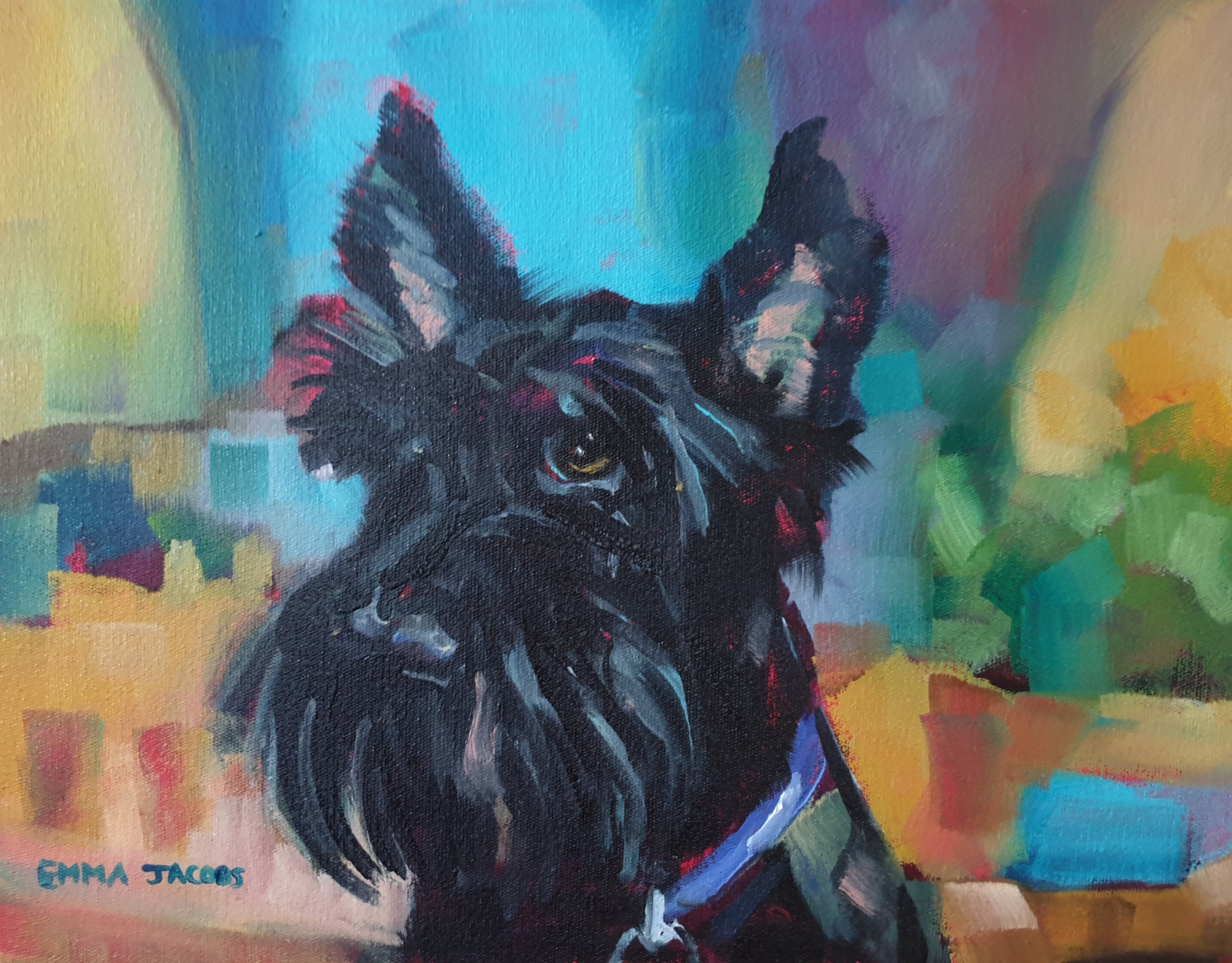 This is our beautiful little Maggie. Sold by Art & Wine Gallery in Clarens, Free State.